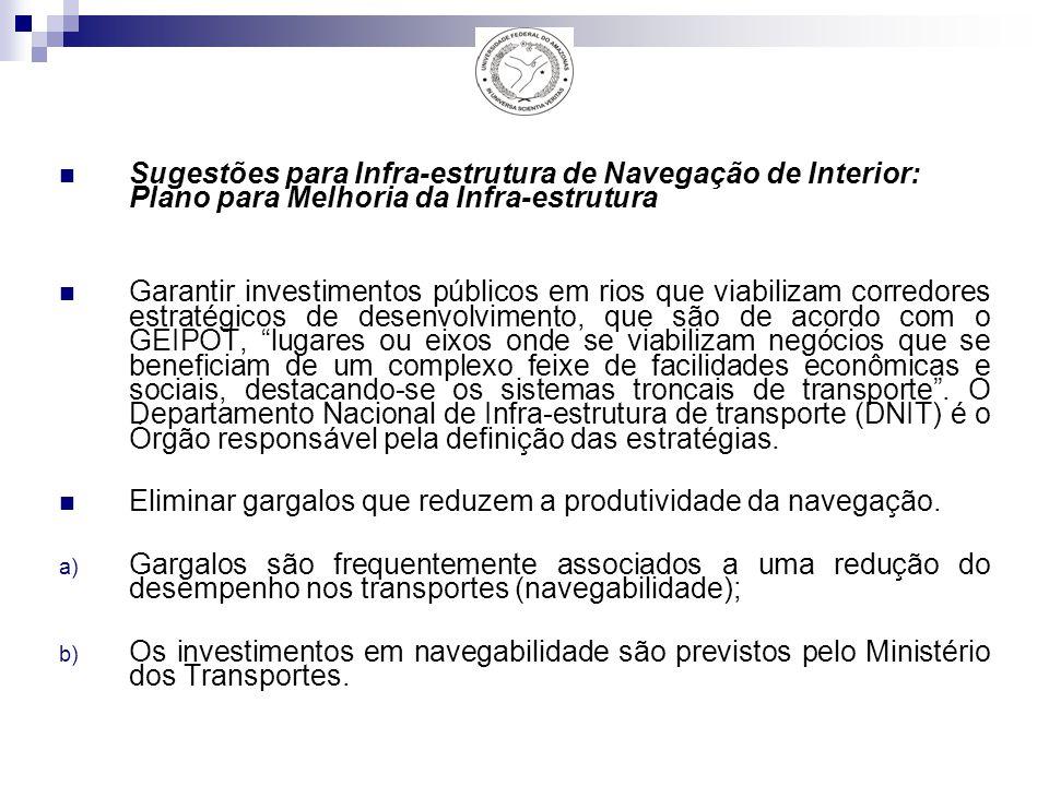 Sugestões para Infra-estrutura de Navegação de Interior: Plano para Melhoria da Infra-estrutura
