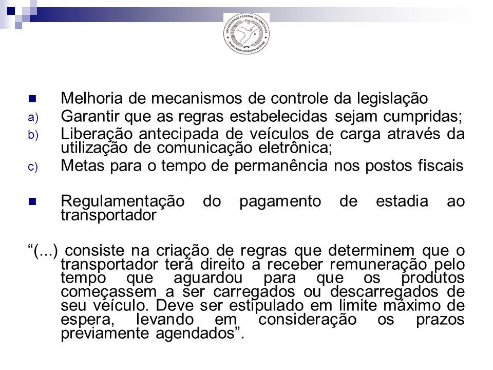 Melhoria de mecanismos de controle da legislação