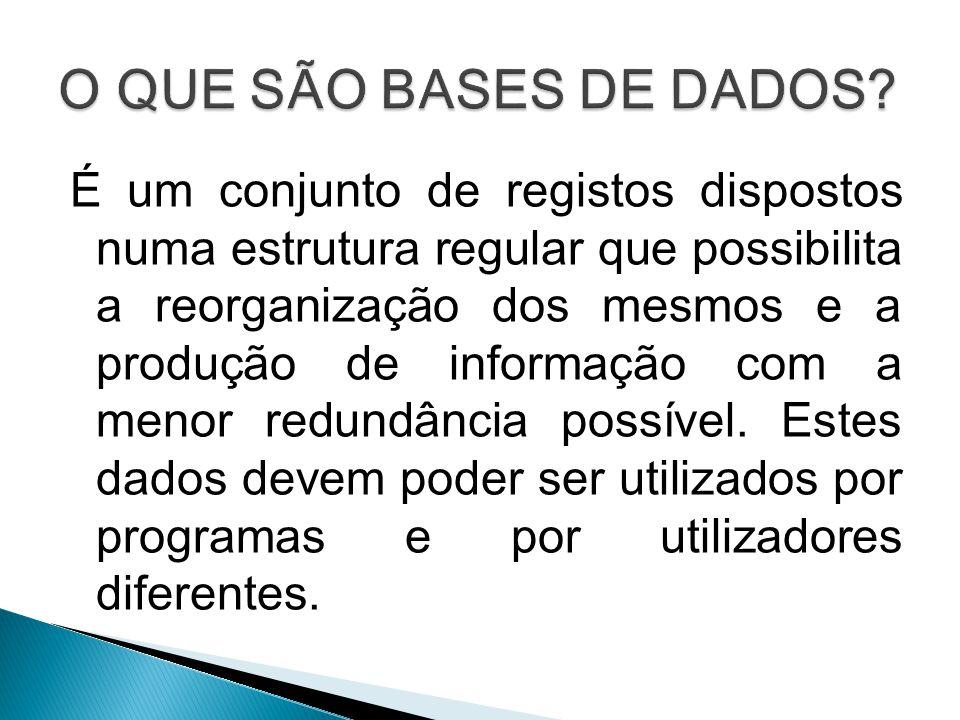 O QUE SÃO BASES DE DADOS
