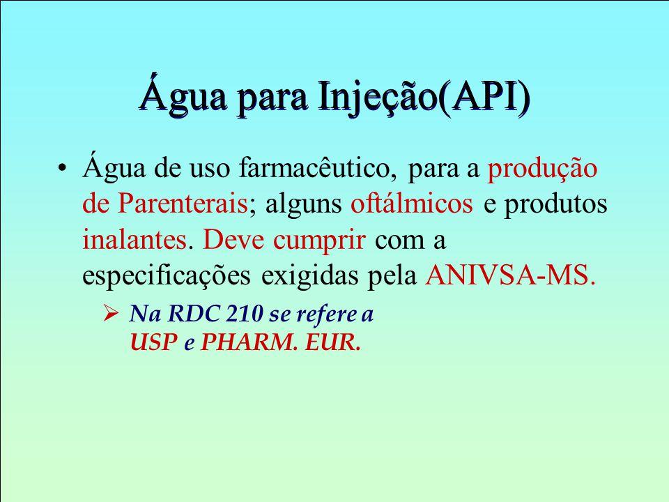 Água para Injeção(API)