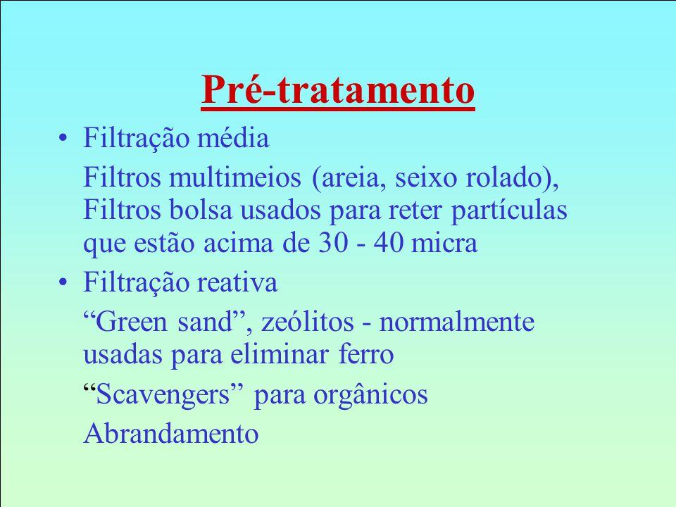 Pré-tratamento Filtração média