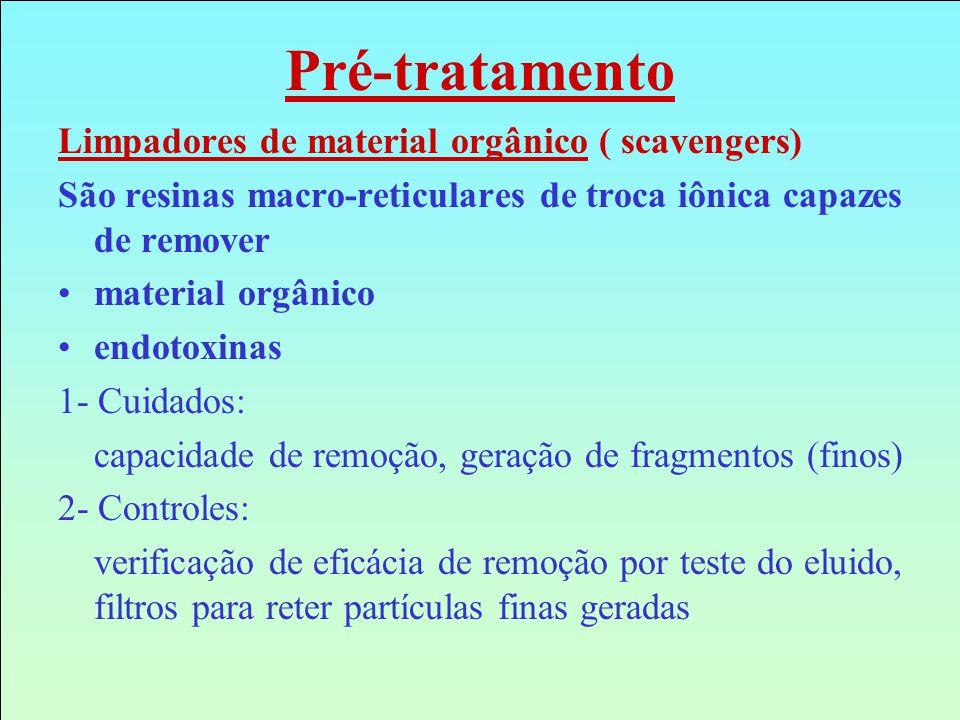Pré-tratamento Limpadores de material orgânico ( scavengers)