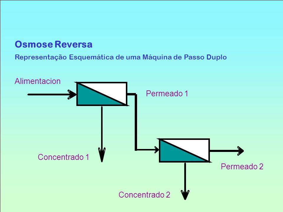 Osmose Reversa Representação Esquemática de uma Máquina de Passo Duplo