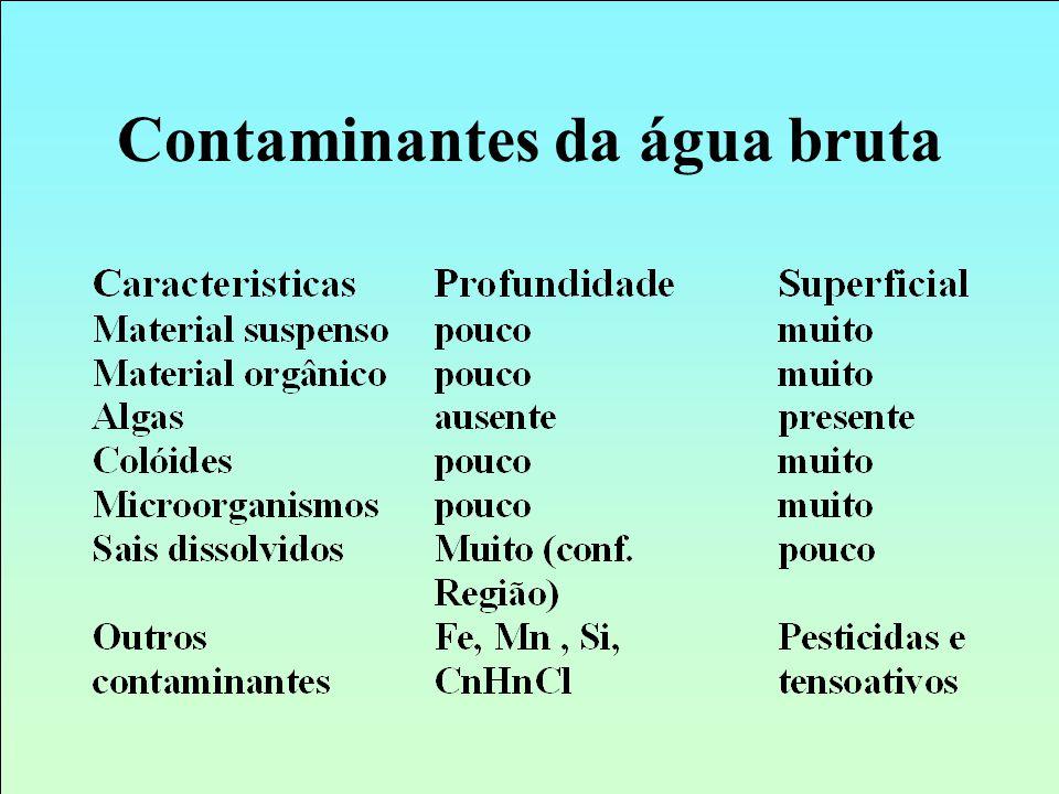 Contaminantes da água bruta