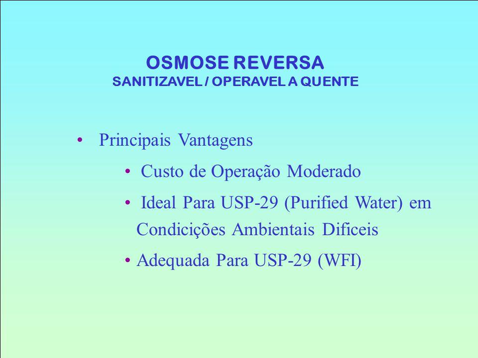 OSMOSE REVERSA SANITIZAVEL / OPERAVEL A QUENTE