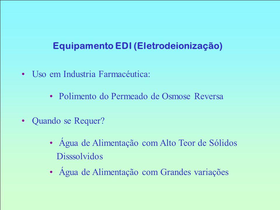 Equipamento EDI (Eletrodeionização)
