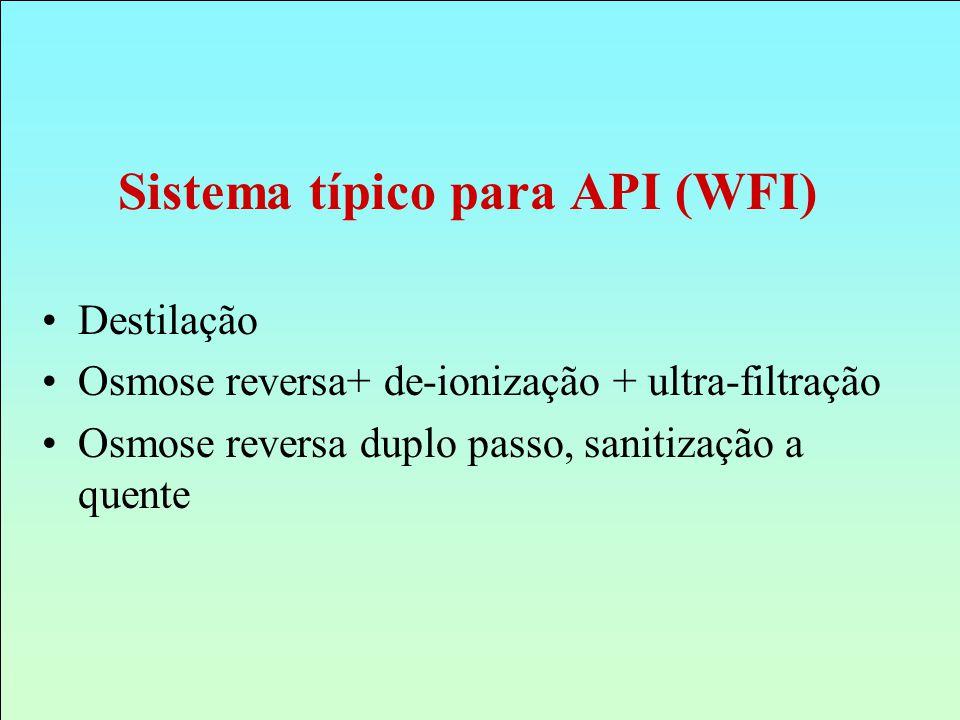 Sistema típico para API (WFI)