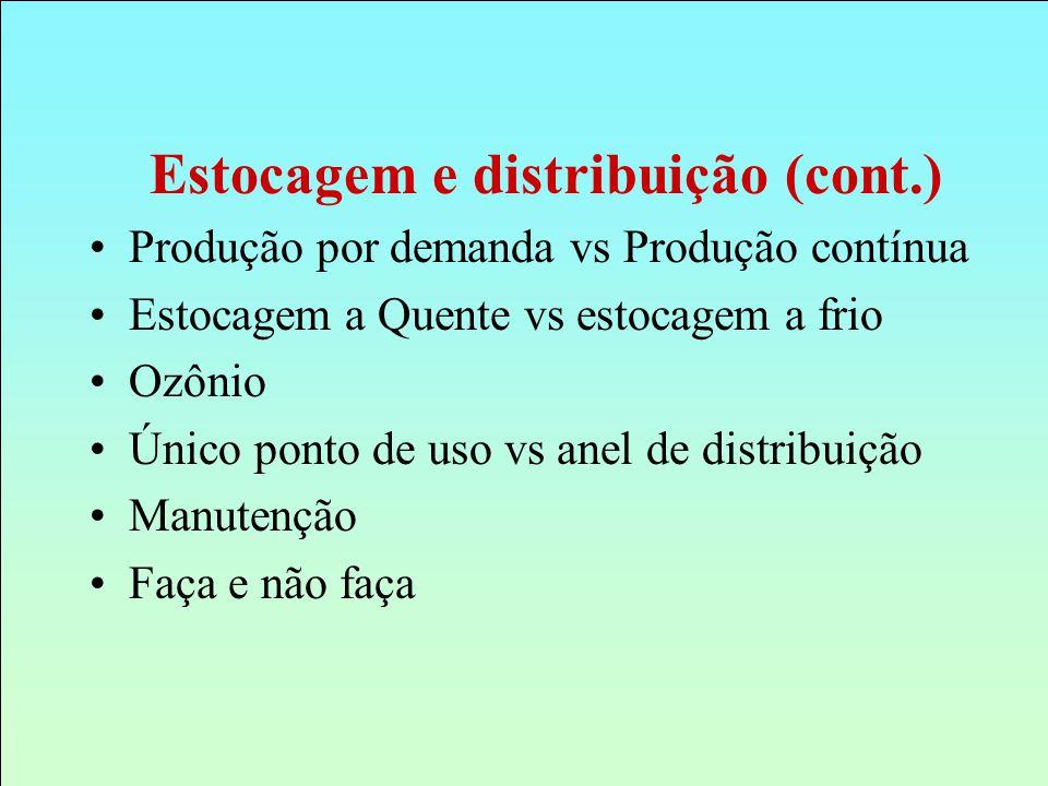 Estocagem e distribuição (cont.)