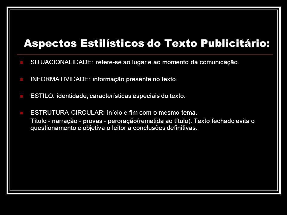 Aspectos Estilísticos do Texto Publicitário: