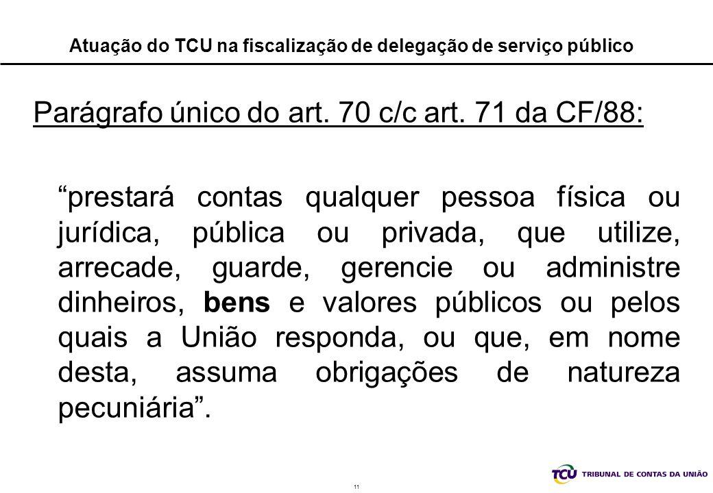 Atuação do TCU na fiscalização de delegação de serviço público