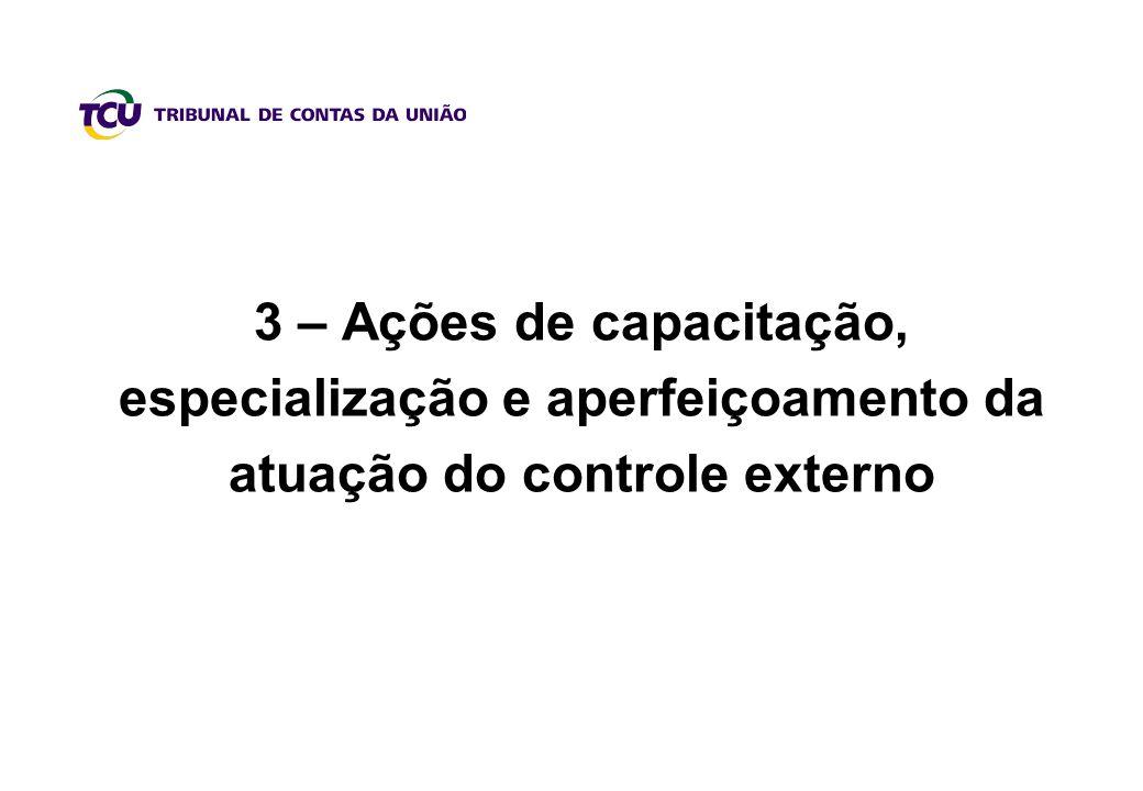 3 – Ações de capacitação, especialização e aperfeiçoamento da atuação do controle externo