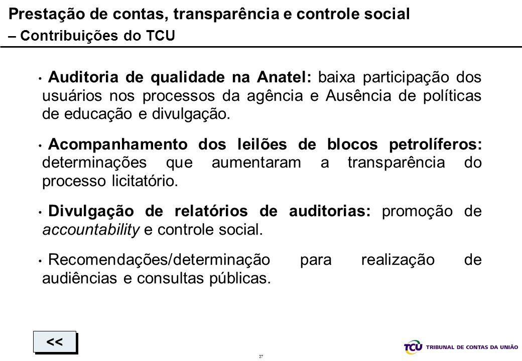 Prestação de contas, transparência e controle social – Contribuições do TCU