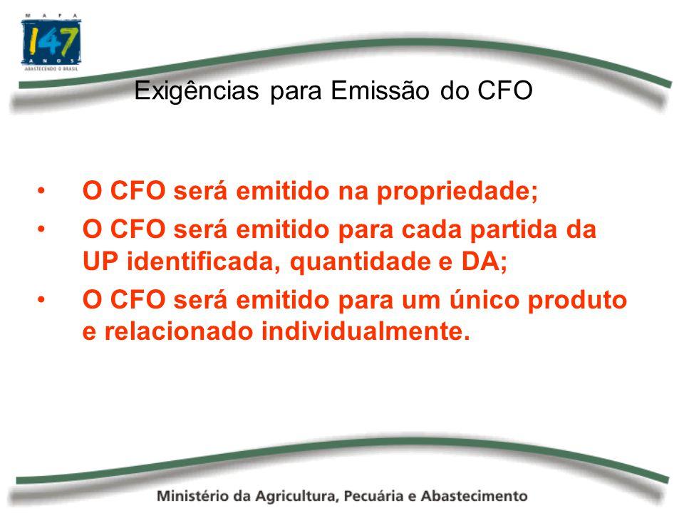 Exigências para Emissão do CFO