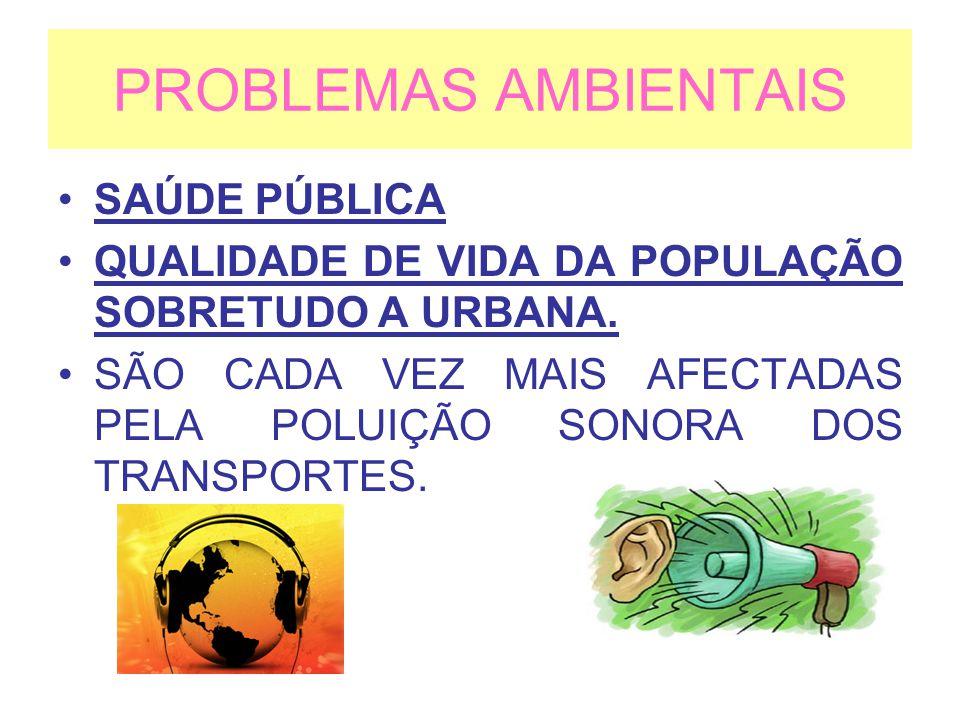 PROBLEMAS AMBIENTAIS SAÚDE PÚBLICA