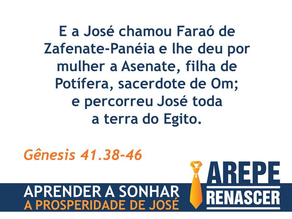 APRENDER A SONHAR E a José chamou Faraó de