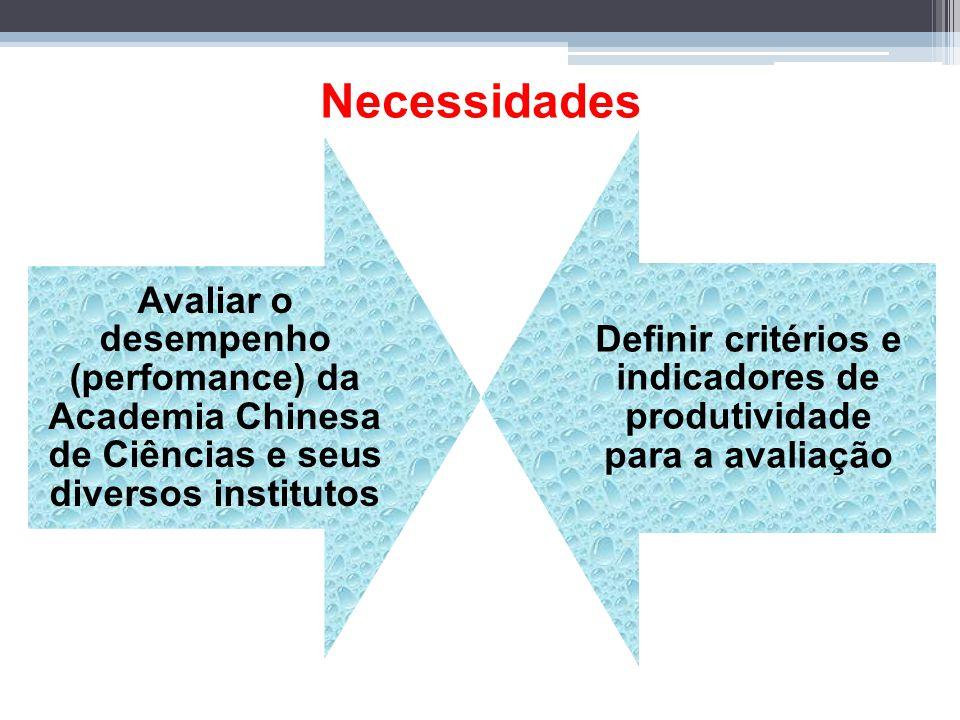 Definir critérios e indicadores de produtividade para a avaliação