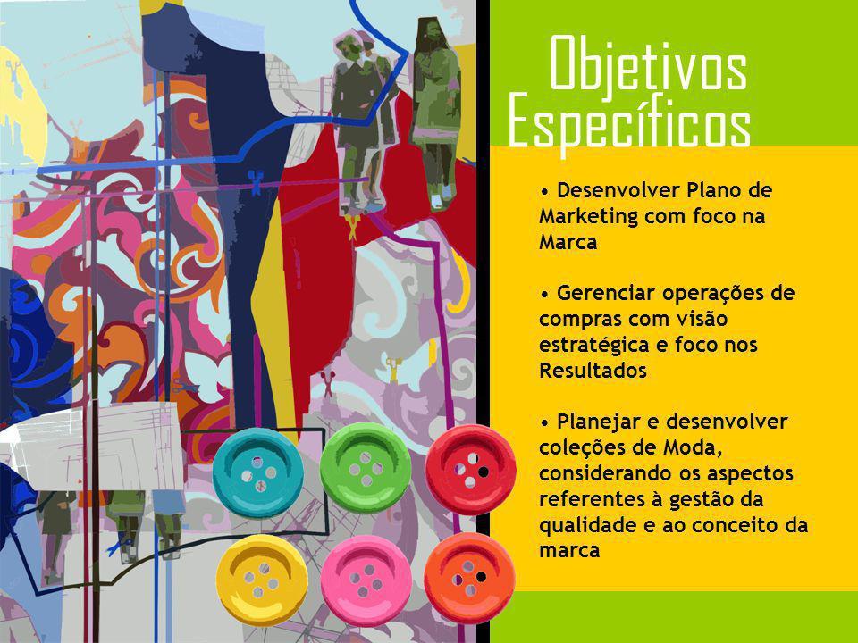 Objetivos Específicos Desenvolver Plano de Marketing com foco na Marca
