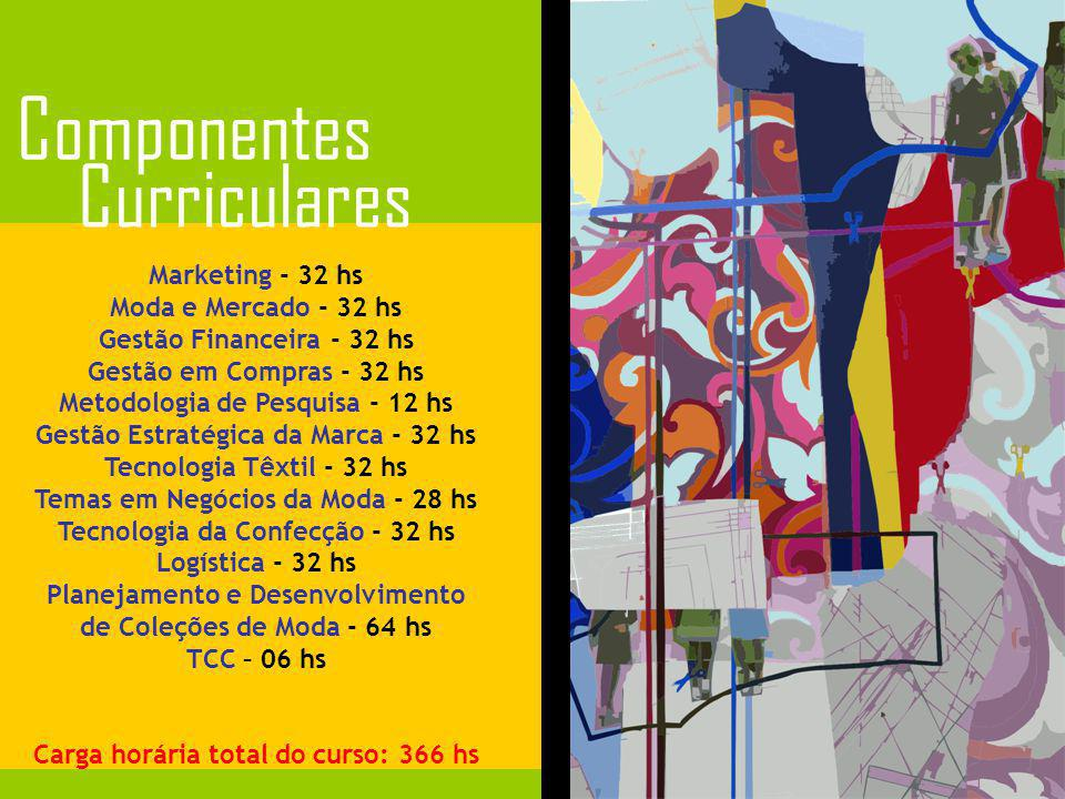 Componentes Curriculares Marketing - 32 hs Moda e Mercado - 32 hs