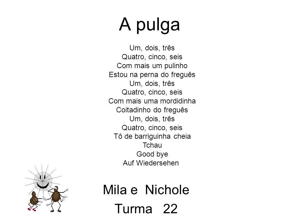 A pulga Mila e Nichole Turma 22