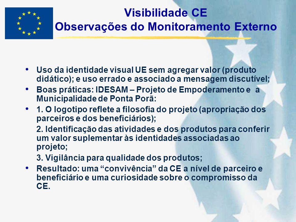 Visibilidade CE Observações do Monitoramento Externo