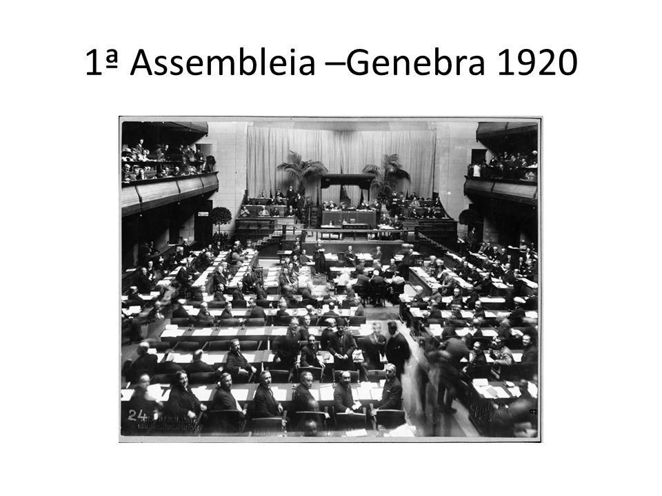 1ª Assembleia –Genebra 1920