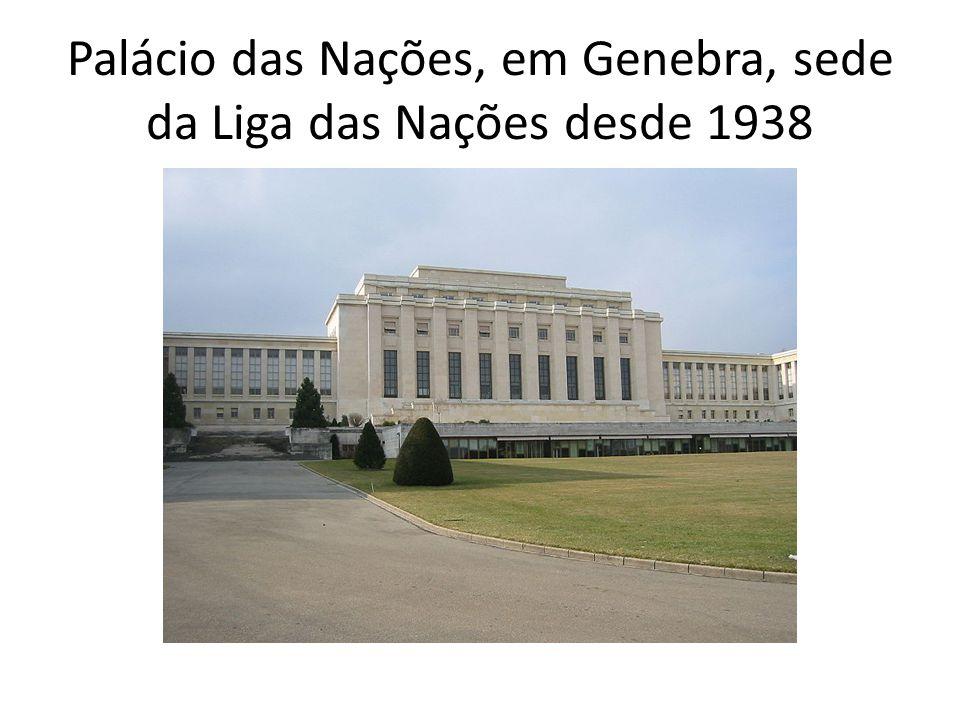 Palácio das Nações, em Genebra, sede da Liga das Nações desde 1938