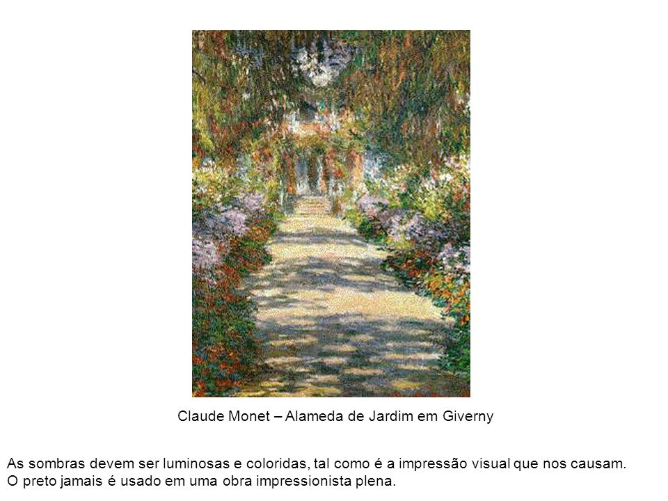 Claude Monet – Alameda de Jardim em Giverny
