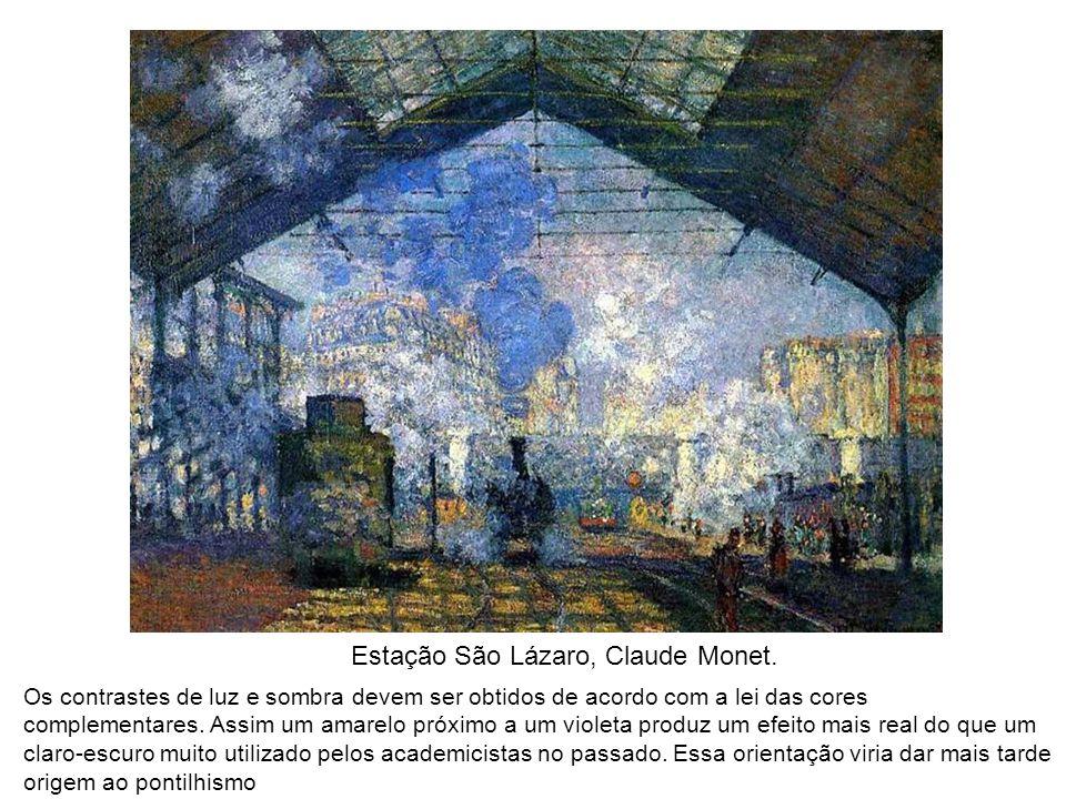 Estação São Lázaro, Claude Monet.