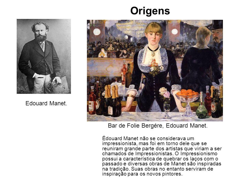 Origens Edouard Manet. Bar de Folie Bergére, Edouard Manet.