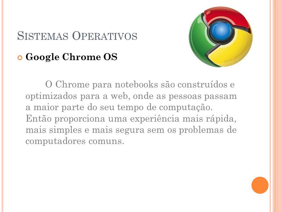 Sistemas Operativos Google Chrome OS