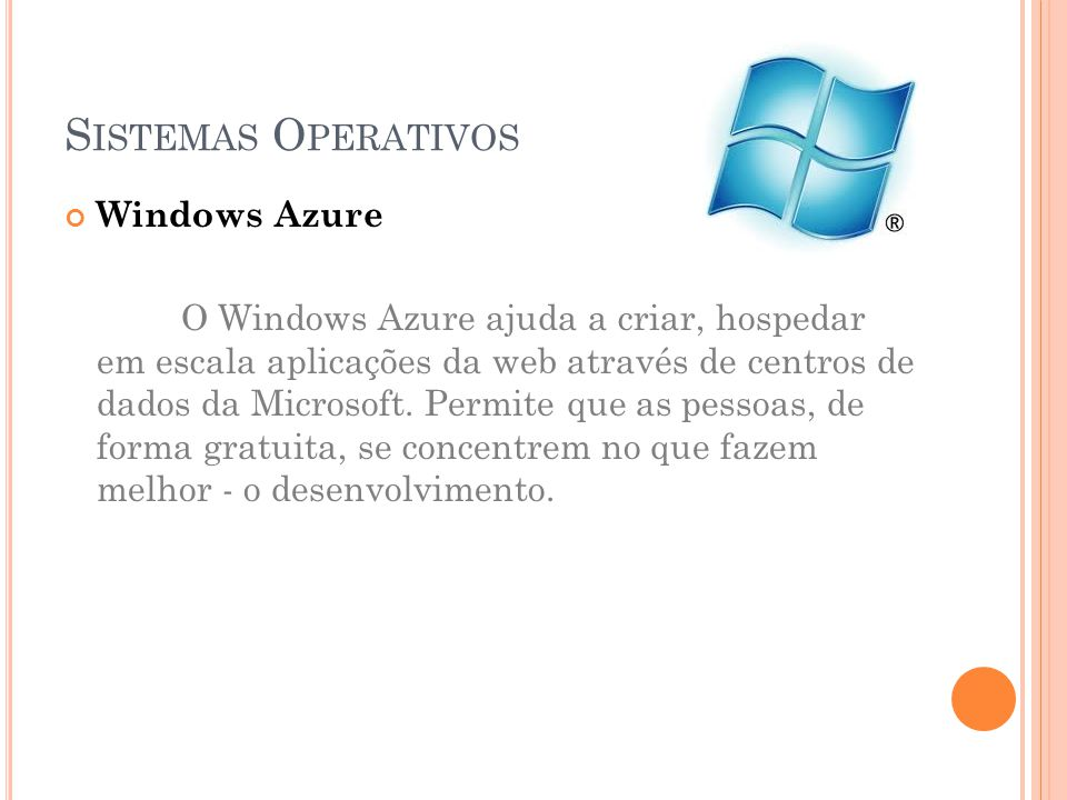 Sistemas Operativos Windows Azure