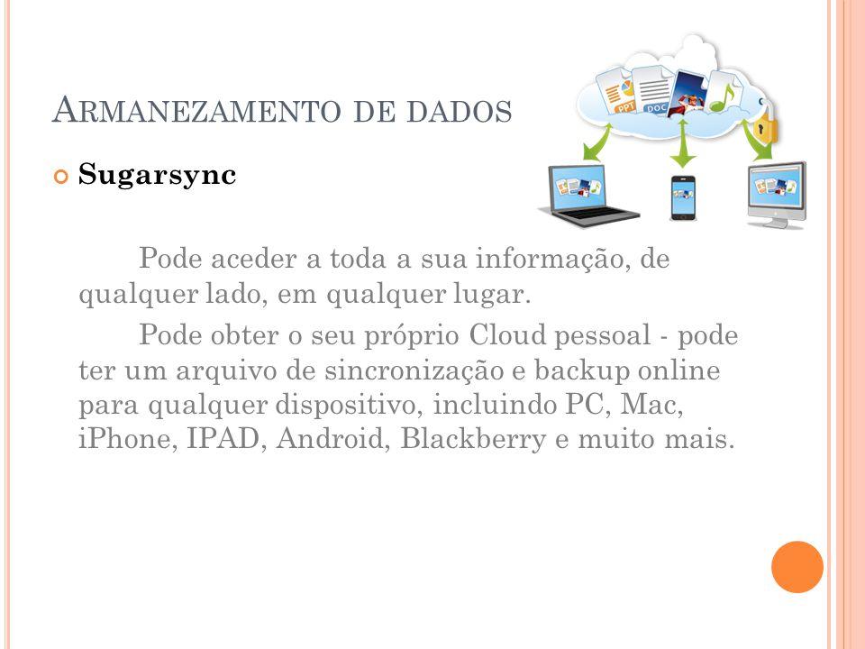 Armanezamento de dados