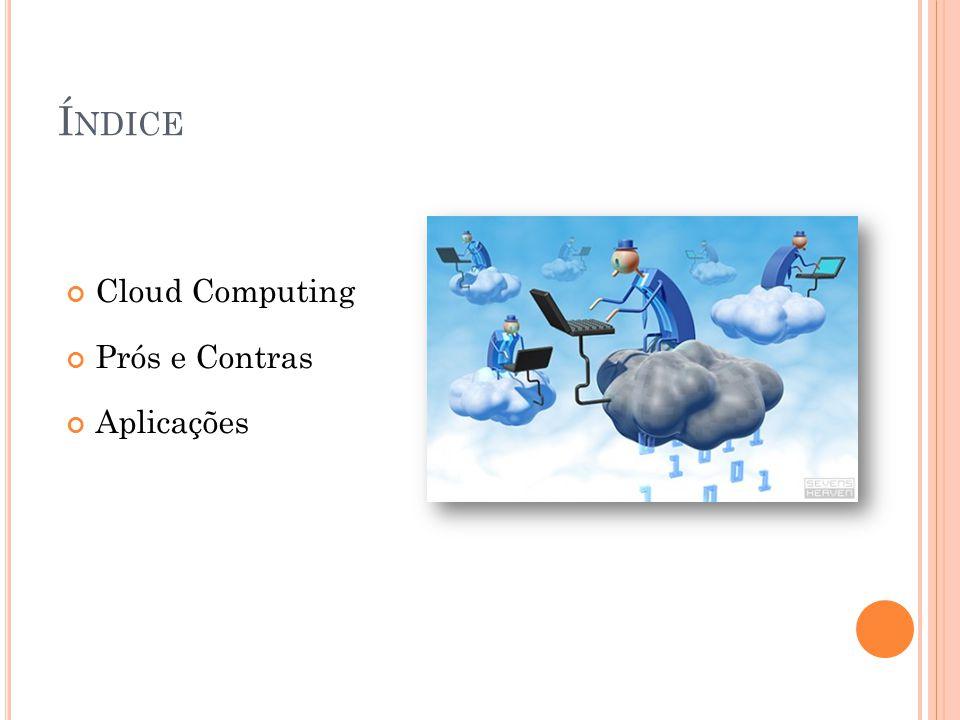 Índice Cloud Computing Prós e Contras Aplicações