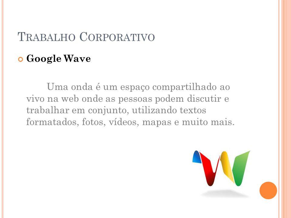 Trabalho Corporativo Google Wave