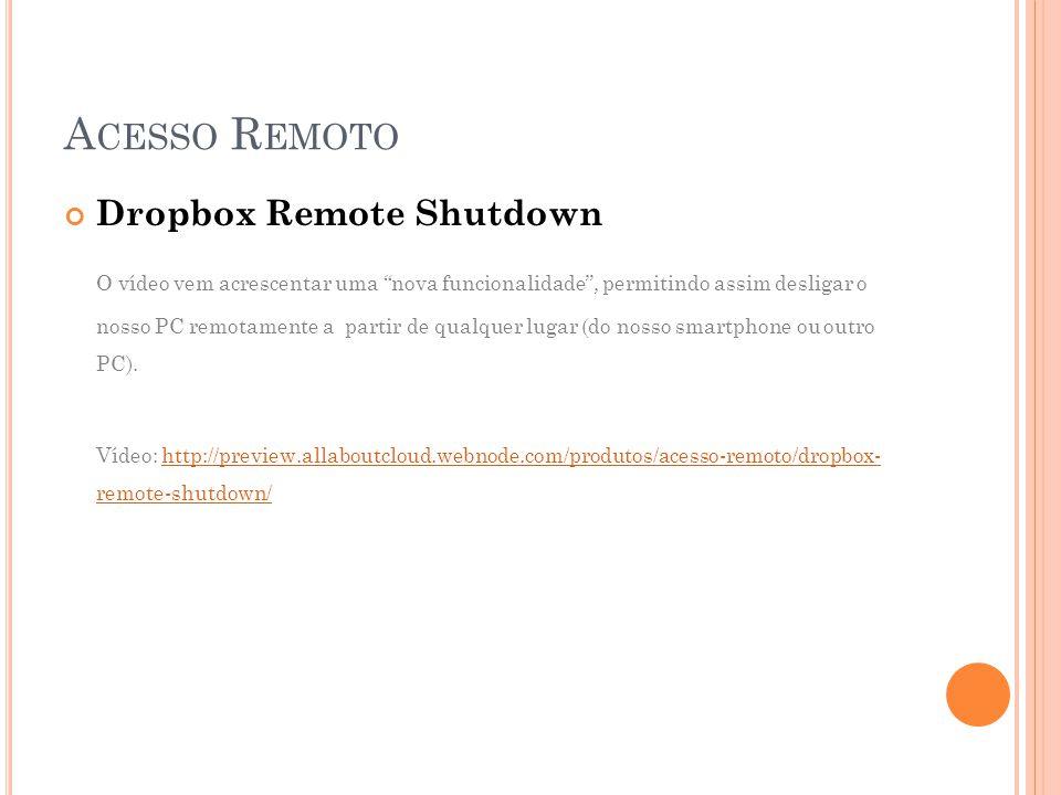 Acesso Remoto Dropbox Remote Shutdown