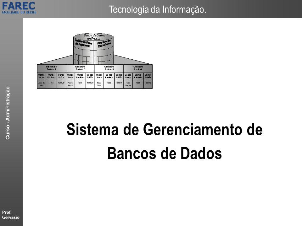 Sistema de Gerenciamento de Bancos de Dados