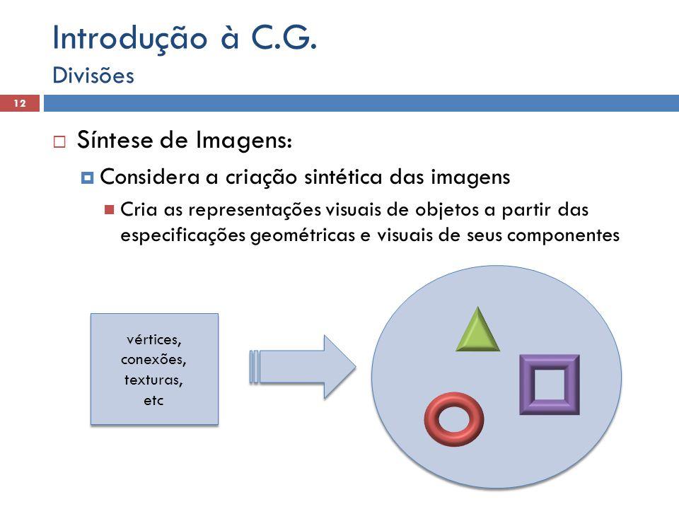 Introdução à C.G. Síntese de Imagens: Divisões