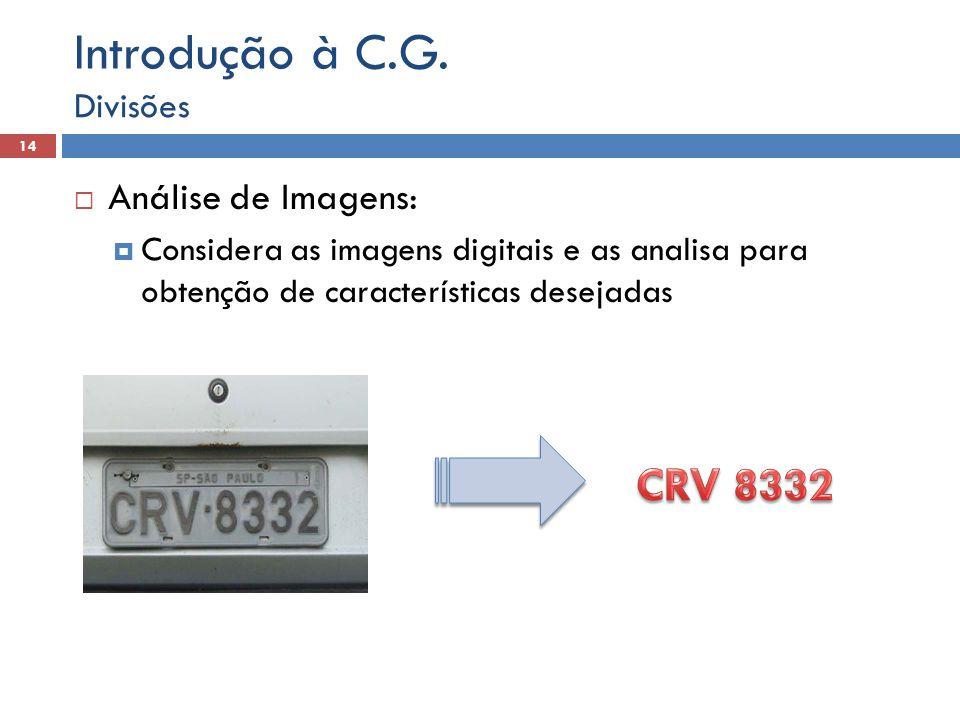 Introdução à C.G. CRV 8332 Análise de Imagens: Divisões
