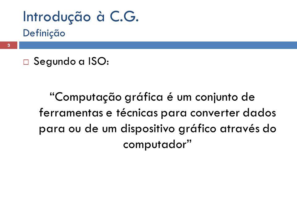 Introdução à C.G. Definição. Segundo a ISO: