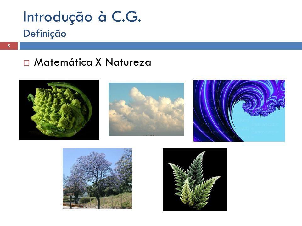 Introdução à C.G. Definição Matemática X Natureza