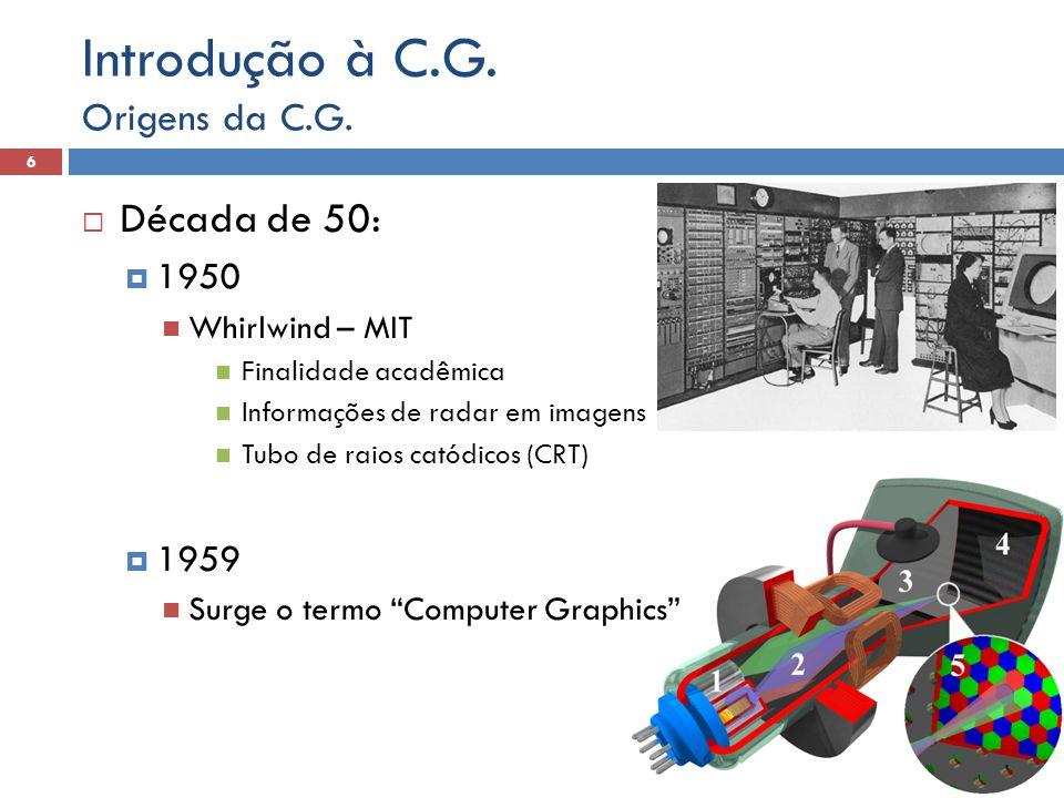 Introdução à C.G. Década de 50: Origens da C.G. 1950 1959