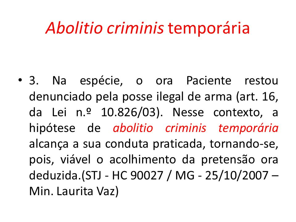 Abolitio criminis temporária