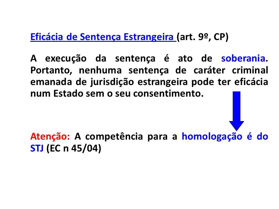 Eficácia de Sentença Estrangeira (art. 9º, CP)