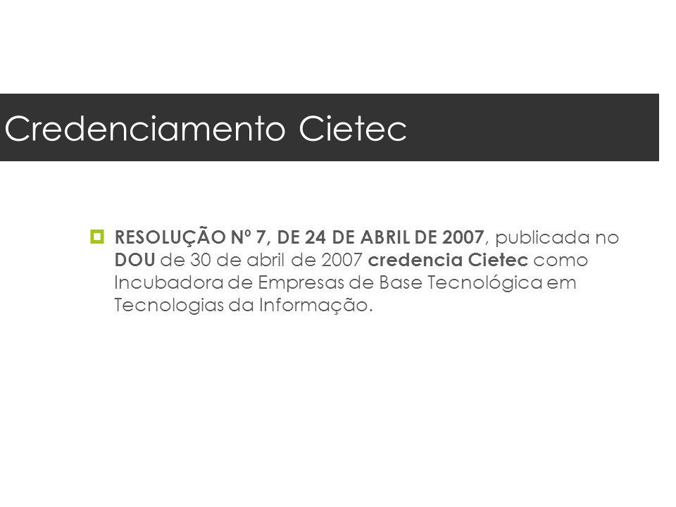 Credenciamento Cietec
