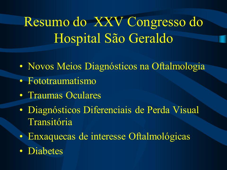 Resumo do XXV Congresso do Hospital São Geraldo