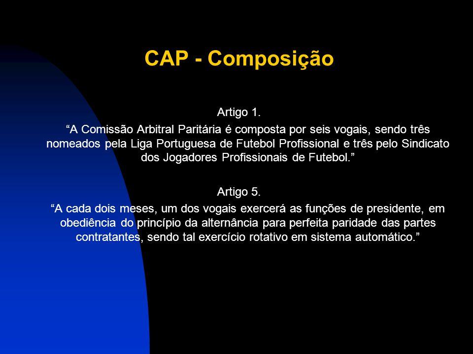 CAP - Composição Artigo 1.