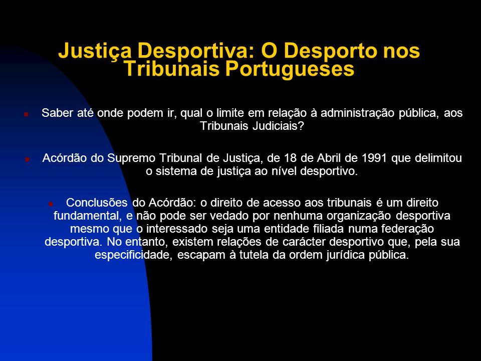 Justiça Desportiva: O Desporto nos Tribunais Portugueses