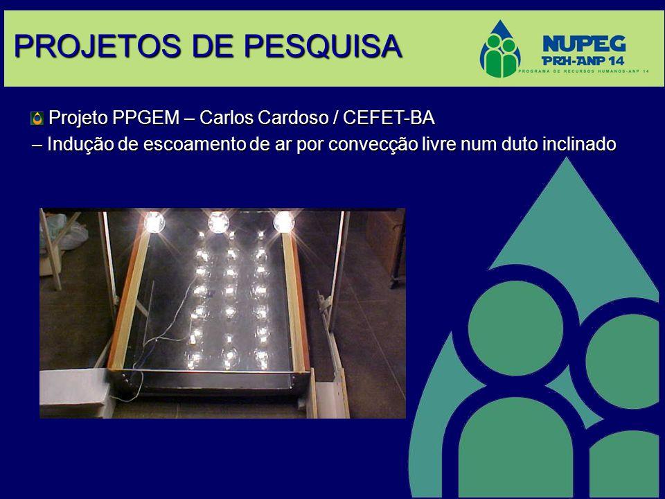 PROJETOS DE PESQUISA Projeto PPGEM – Carlos Cardoso / CEFET-BA