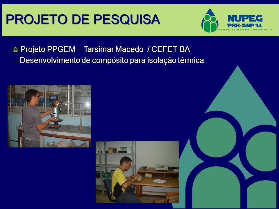 PROJETO DE PESQUISA Projeto PPGEM – Tarsimar Macedo / CEFET-BA