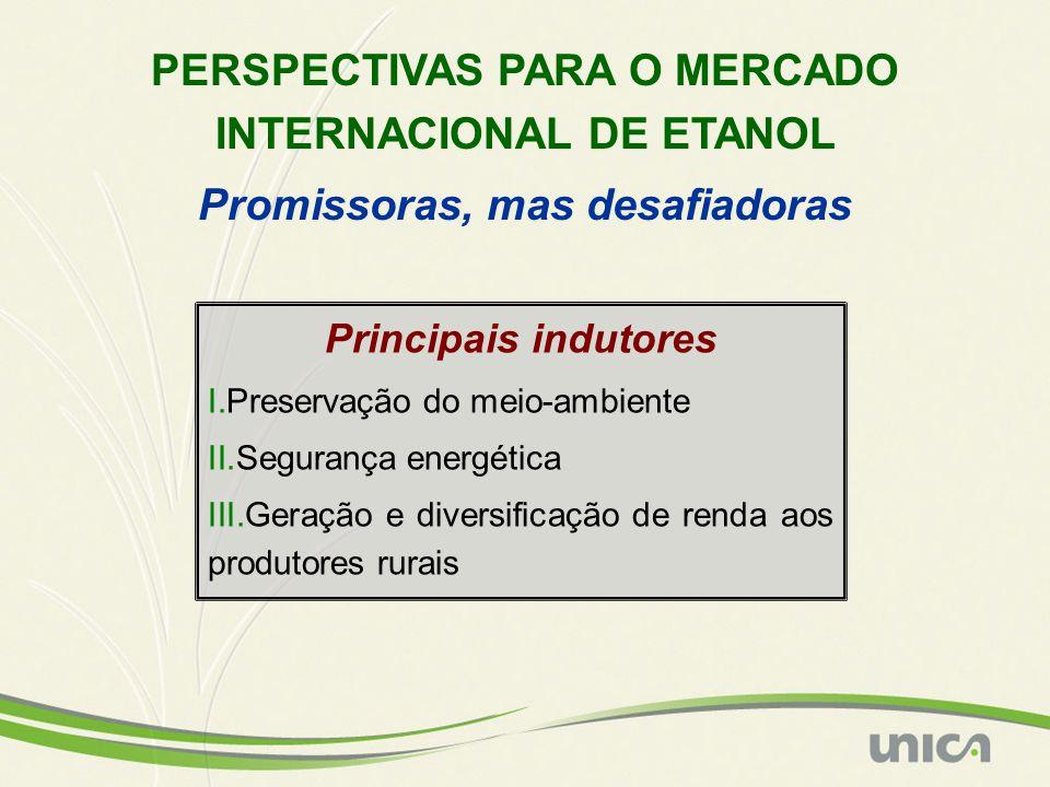 PERSPECTIVAS PARA O MERCADO INTERNACIONAL DE ETANOL